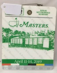 2019 Masters Augusta National Golf Club Badge Ticket, Tiger Woods Wins 5th Rare