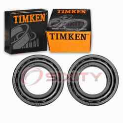 2 Pc Timken Front Outer Wheel Bearing And Race Sets For 1975-1980 Dodge W200 Kc