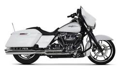 Two Brothers Chrome/black Slash 2-1 Comp S Exhaust W/ Ghost 17-21 Harley Fl