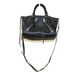 Rebecca Minkoff Moto Satchel Crossbody Leather Bag Color: Black $149.99