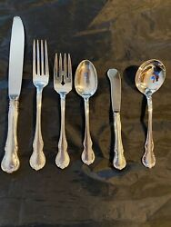Towle French Provincial Sterling Silver 4 Settings 6 Pieces With Cream Soups