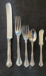 Gorham Chantilly Sterling Flatware Set For 4 With 5 Pieces