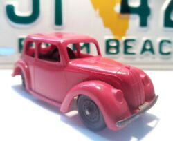 Vintage Triang Minic Toys Plastic Morris Saloon Red - Good Condition