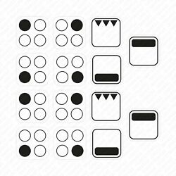 Two Sets Of 4 Ring Stove Stickers Decals Symbols For Hob Cooker Top Oven - 15mm