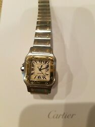 Santos Pre-owned Gold Plate And Screws With Date