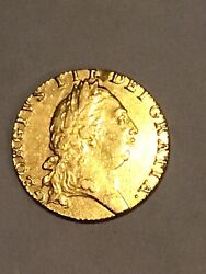 1791 Gold Uk George Iii Guinea Coin Weighs 8.4 Grams