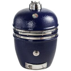 New Saffire 19 Large Stainless Steel Bbq Island Grill/smoker Onyx Blue