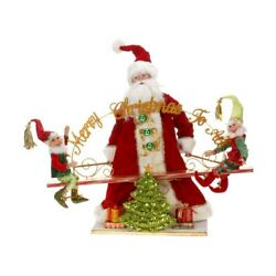 Mark Roberts 2013 And Older See-saw Santa And Elves Figurine 25.5 Inches