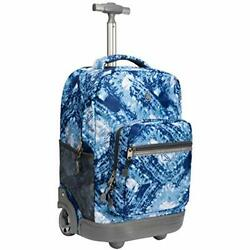 18 inches Wheeled Rolling Backpack for Boys and Girls School Student Blue $101.37