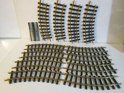 Lgb Lehmann No 1100 G Scale R=600mm Curved Track Lot Of 12 Pieces +clips Brass