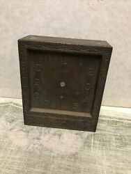 Antique Ansonia Clock Face Cover For Parts