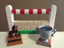 Loving Family Dollhouse Horse Accessory Lot Stable Part Trophy Fisher Price