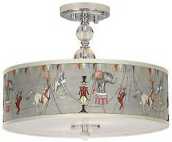 Circus Time 16 Wide Chrome Ceiling Light