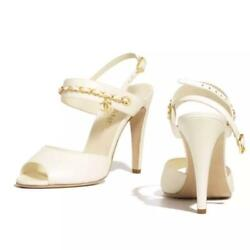 Super Point In Japan Ivory World-sold-out Sandals Size Women 7.5us