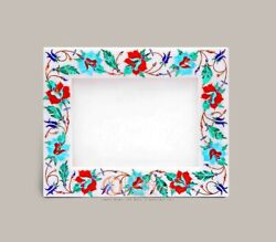 Marble Handmade Unique Inlaid Stone Photo Storage Frame Collectible Gift Decor