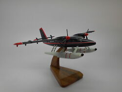 Dhc-6-300 Twin Otter Wardair Dhc6 Airplane Desk Wood Model Small New