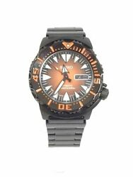 Seiko Orange Monster Diver Superior Automatic Watch Black/sharktooth