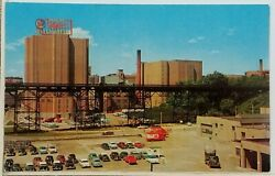 1956 Miller Brewing Co Milwaukee Wi Postcard Brewery High Life Beer Parking Lot