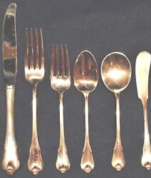 Wallace Grand Colonial Sterling Flatware Set For 4 By 6 Total 24 Pieces
