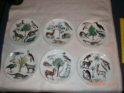 Limoges Ch Field Haviland By Claude Beyer Earthly Paradise Collector 6 Plates