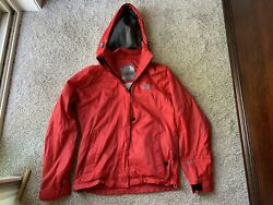 women's vtg the north face jacket gore tex small red 1990's rare water resistant $99.99
