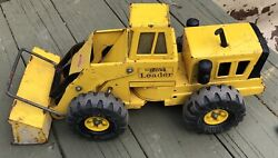 Vintage Yellow Mighty Tonka Front End Loader Steel Toy Truck 1970s