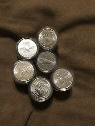 Lot Of 6 State Quarter Mini Sealed 25c Rolls Coin Collection