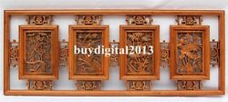 China Camphorwood Four Seasons Flower Wall Hanging Deco Wood Tablet Plaque Board