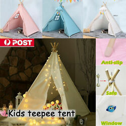 Large Kids Teepee Tent Play Tent Children Indoor Outdoot Play House Decor Km