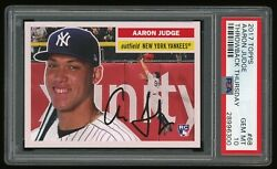 2017 Topps Throwback Thursday Aaron Judge Rookie 1956 Tbt 68 Psa 10 Rc Yankees