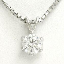 Jewelry Platinum 900 850 Necklace Diamond Vvs2 About5.1g Free Shipping Used