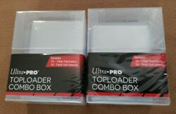 2 Ultra Pro Toploader Combo Box - 10 130pt Toploaders + 10 Thick Soft Sleeves