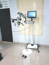 Gss 5 Step Floor Ent Stand Microscope With Accessories Led Monitor White