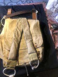 Vintage Early 1960s Boy Scout Backpack With Wooden Slats And Rope Frame