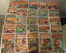 Master Of Kung Fu Lot S 17 18 19 20 To 52, 54 To 64 High Res Scans 47 Issue Run