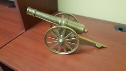 Vintage Military Display Cannon Solid Brass Excellent Condition 15 Overall