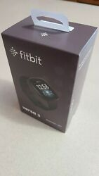 Brand New Fitbit Versa 3 Smartwatch Includes Small And Large Sizesandnbsp - Black