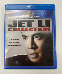 Dragon Dynasty Triple Feature Jet Li Collection Blu Ray Set Mint Discs Rare Oop