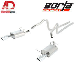 Borla 140398 Atak Cat-back Exhaust System For 2011-2014 Ford Mustang 3.7l V6