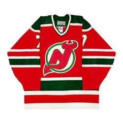 Vtg Very Rare New Jersey Devils Christmas Authentic Ccm On Ice Jersey Size 46