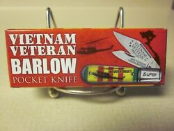Vietnam Veteran Barlow Pocket Knife And039mintyand039 Unused With Box V/g Condition