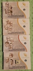 2013 2014 2015 2016 U.s Mint Presidential Dollar Coin Proof Set W/ Box And Coa 14