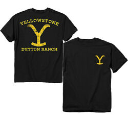 Yellowstone - Dutton Ranch - T-shirt - Brand New And Licensed - Tv 66-331-42