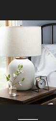 Hearth And Hand Magnolia White Resin Table Lamp Nwt Sold Out