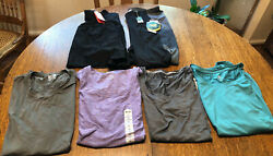 Lot 6 Women#x27;s Workout Athletic Sz Large Mix Of Reebok AVIA Champion And More