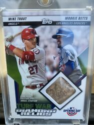 2021 Topps Opening Day Turf War Dual Diamond Relics Mike Trout/mookie Betts