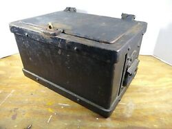 Antique Heavy Cast Iron Strong Box Safe Rare 1800s Stagecoach Wagon Wells Fargo