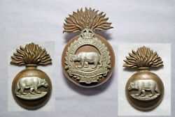 Rare Post Wwi Canadian Army Edmonton Fusiliers 9th Cef Cap Badge And Collar 1924