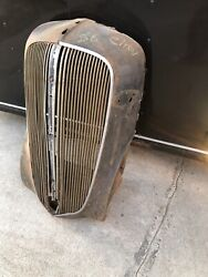 1936 36 Chevy Grill Shell Nose Cone Chevrolet Coupe Sedan Convertible Rat Rod 37