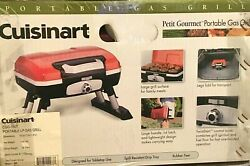 Cuisinart Cgg-180t Portable Tabletop Red Gas Grill Camping Balcony Boat Beach